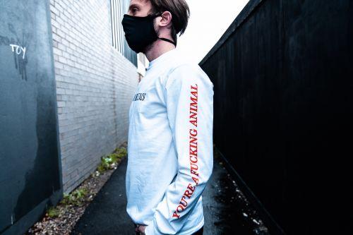 Animal White Longsleeve Tshirt by Bad Dreems