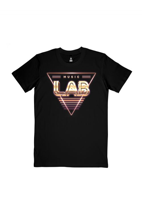 Triangle Black Tshirt (Front Print Only) by L.A.B.