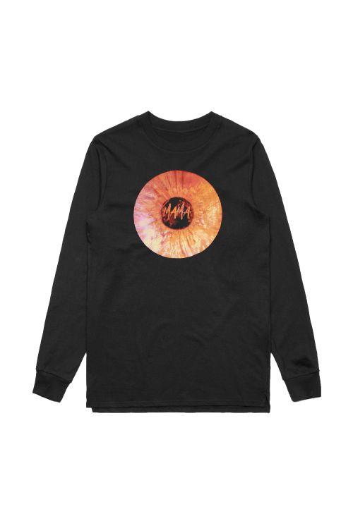 Mama Record Black Longsleeve Tshirt by Adrian Eagle