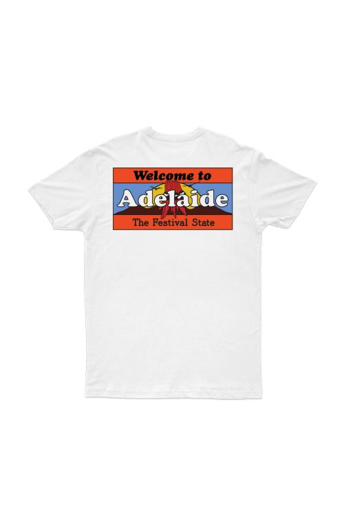 Welcome To Adelaide White Tshirt by Bad Dreems