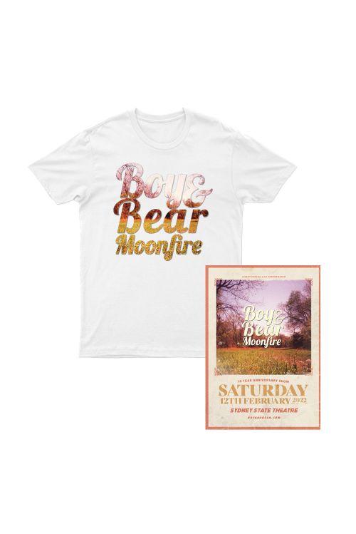 Boy & Bear Moonfire 10 Year Anniversary T Shirt/ Poster Pack by Boy and Bear