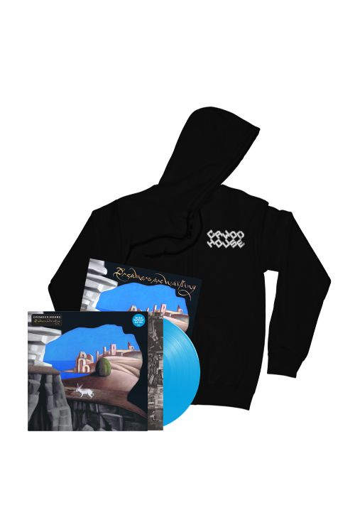 Dreamers Are Waiting (LP) Cyan Blue Vinyl + Logo Black Hoodie + Signed  Artcard by Crowded House