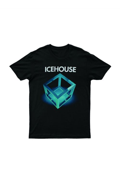 Platinum Tour Black Tshirt (Cube) With dates by Icehouse