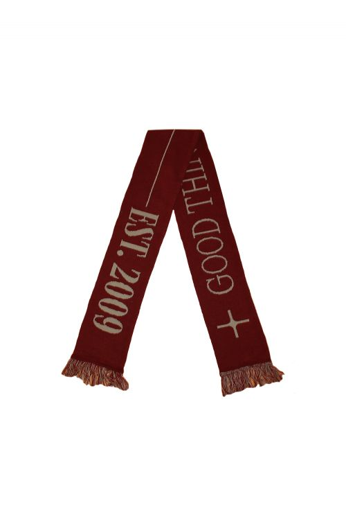 I OH YOU / GOOD THINGS TAKE TIME SCARF (BURGUNDY) by I Oh You