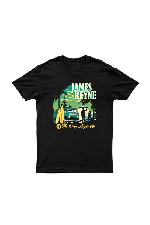 Boys Light Up Black Tour Tshirt w/dateback by James Reyne