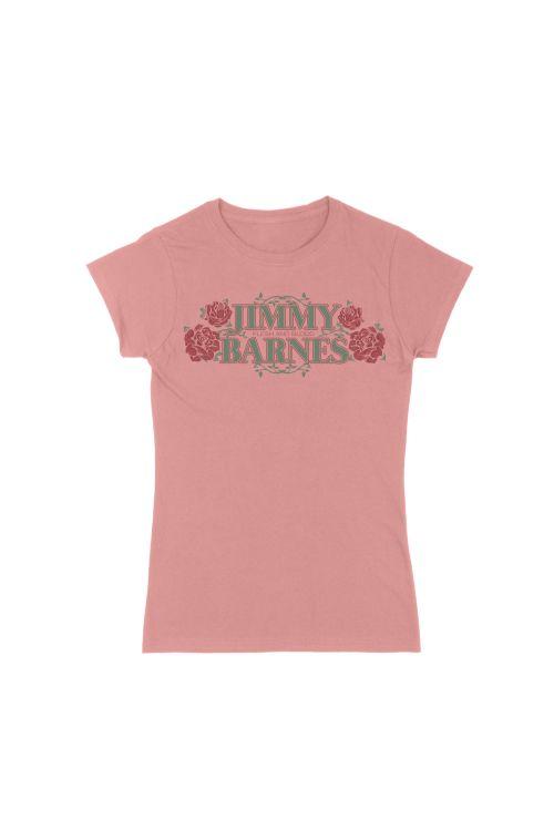 Faded Rose Ladies Tshirt by Jimmy Barnes
