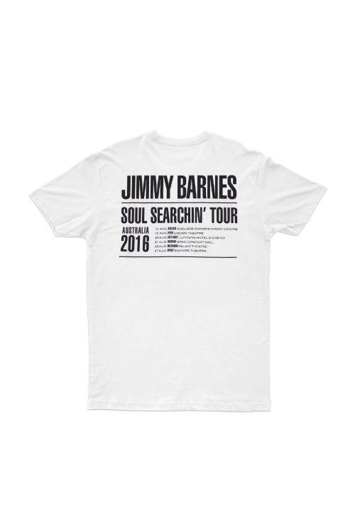 White 'Soul Searchin' Tour T-shirt by Jimmy Barnes