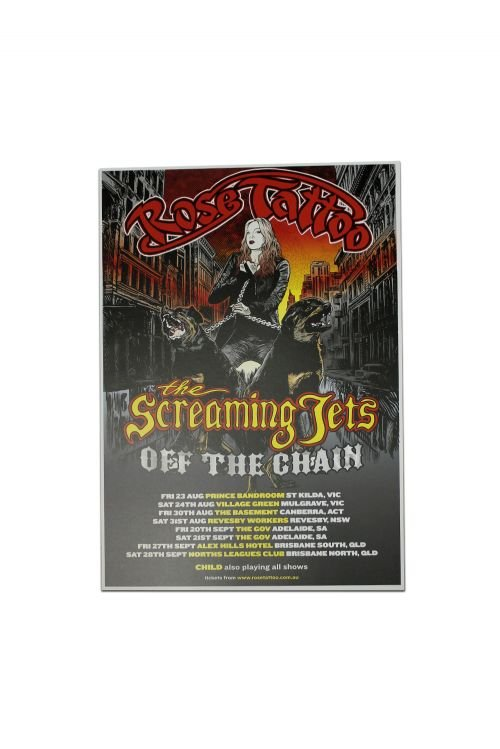 Off The Chain Event Tour 2019 Poster (Tatts/Jets) by Rose Tattoo