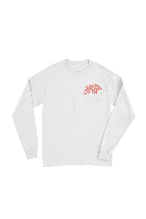 Swirl Logo White Long Sleeve Tshirt by Spacey Jane