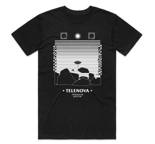 TRANQUILIZE BLACK TSHIRT by TELENOVA