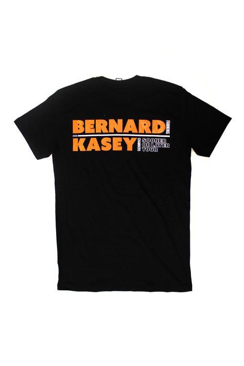 Sooner Or Later Tour Black Tshirt by Bernard Fanning