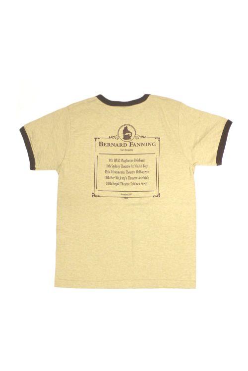 Gramaphone Light Brown Mens Tshirt by Bernard Fanning