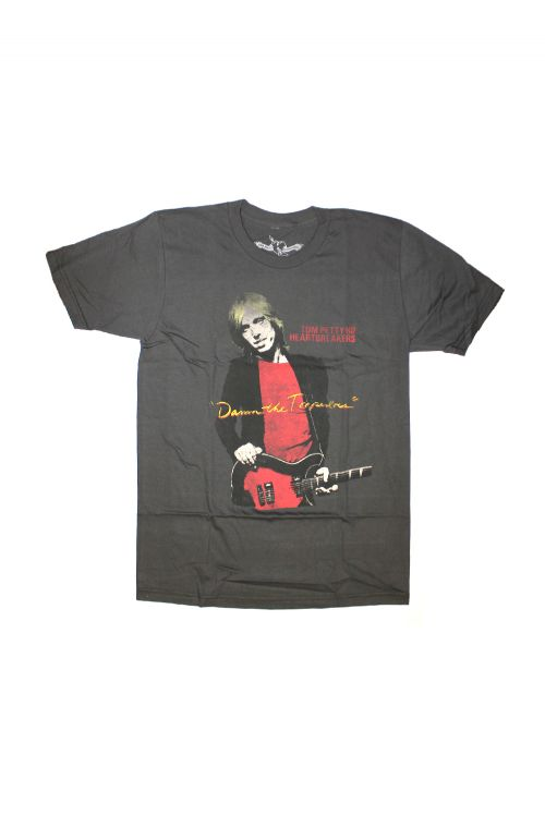 Damn The Torpedos Charcoal Mens Tshirt by Tom Petty & The Heartbreakers