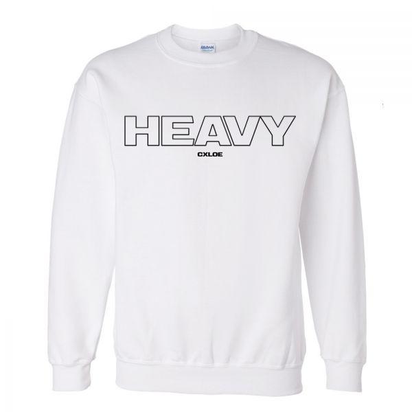 Heavy White Crew Neck Jumper