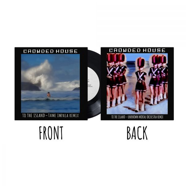 """To The Island - Remixes 7"""" vinyl by Crowded House"""