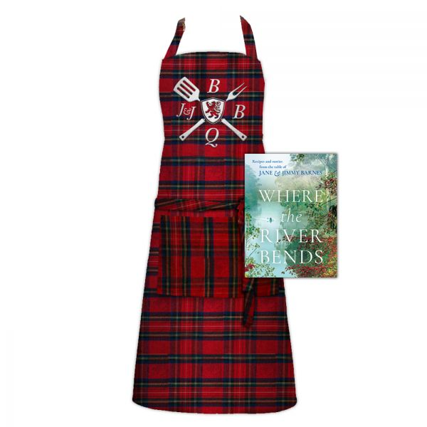 WHERE THE RIVER BENDS (Signed Copy) & APRON
