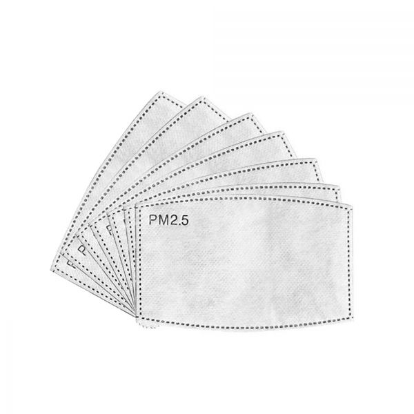 PM2.5 activated carbon face mask filter (Pack of 7)