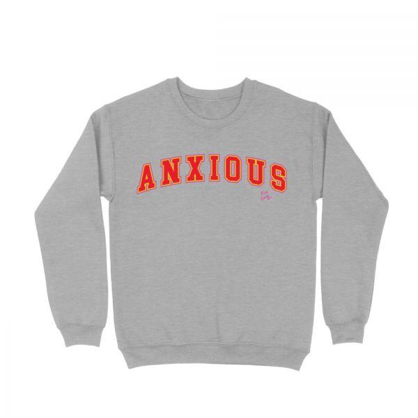 Anxious Grey Marle Sweater