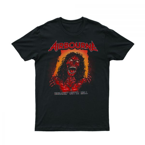 Breaking Out Of Hell 2017 Black Tour Tshirt