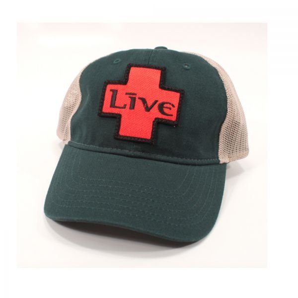 Green/Tan Cap with LIVE Logo Patch