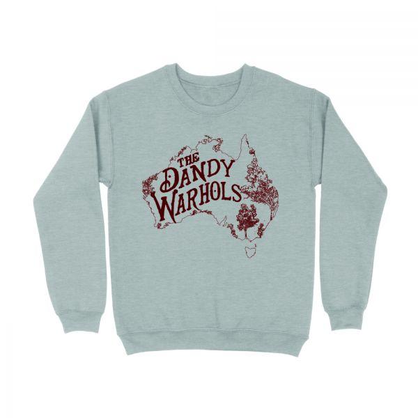 Australia Map Grey Marle Sweatshirt Jumper