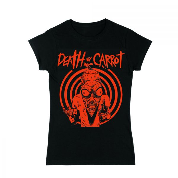 Party Carrot Female Black Tee
