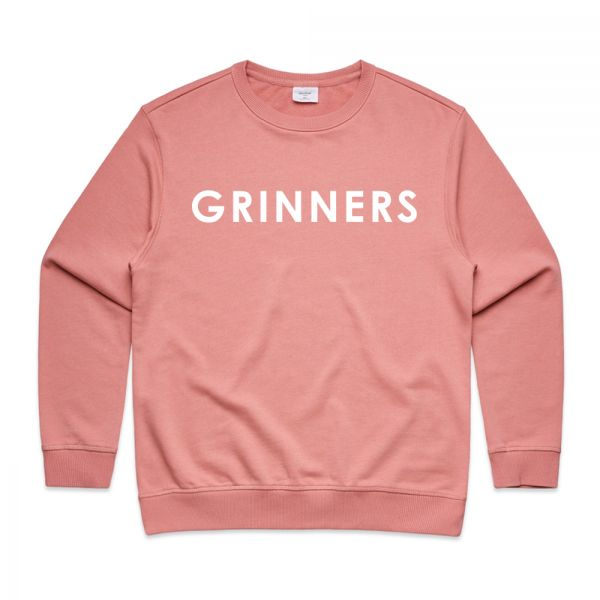 DR. GRINNERS LOGO WOMENS ROSE SWEATSHIRT