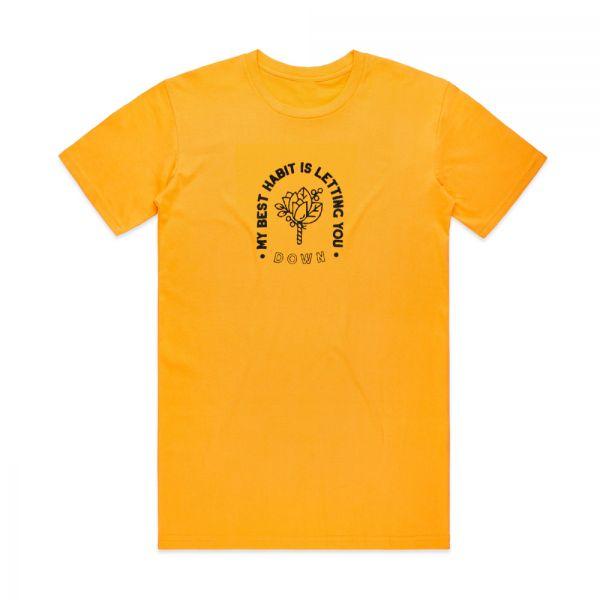 My Best Habit Gold Tshirt