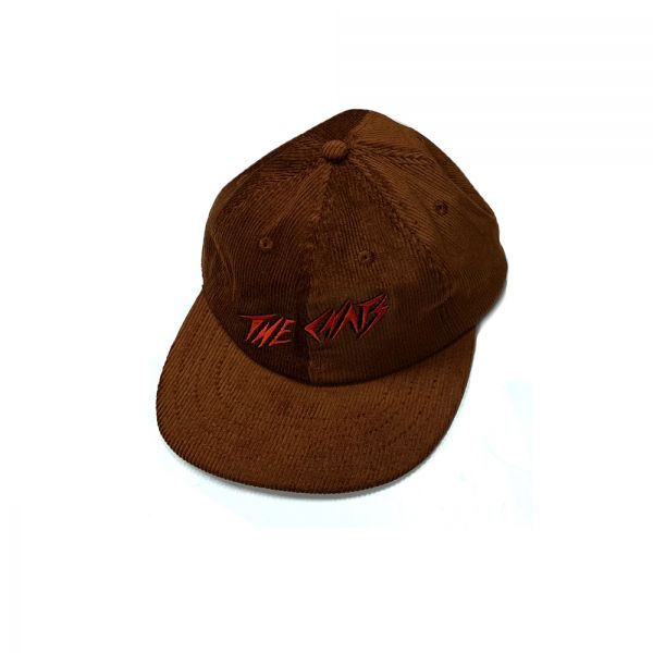 Chats Red Logo Brown Cordoroy Hat