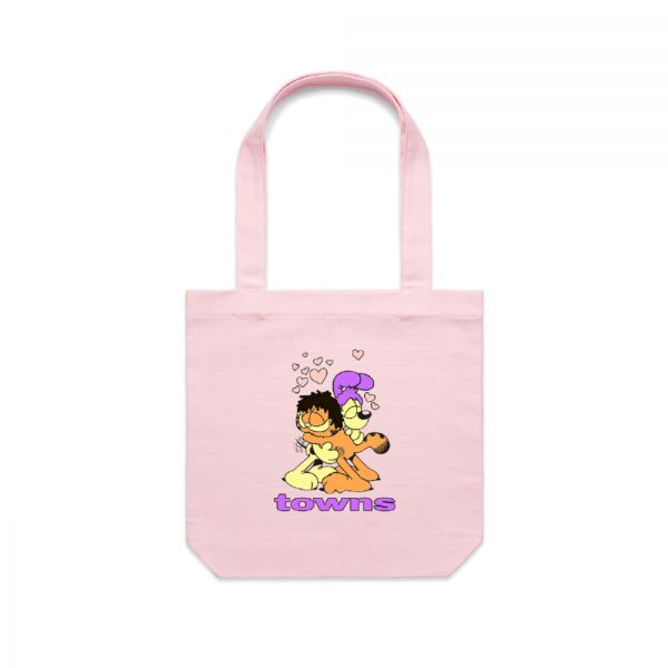 Garfield Pink Tote Bag