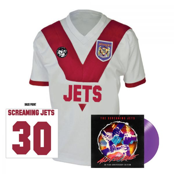All For One - 30 Year Anniversary Edition Jersey (White/Red) + Purple Vinyl