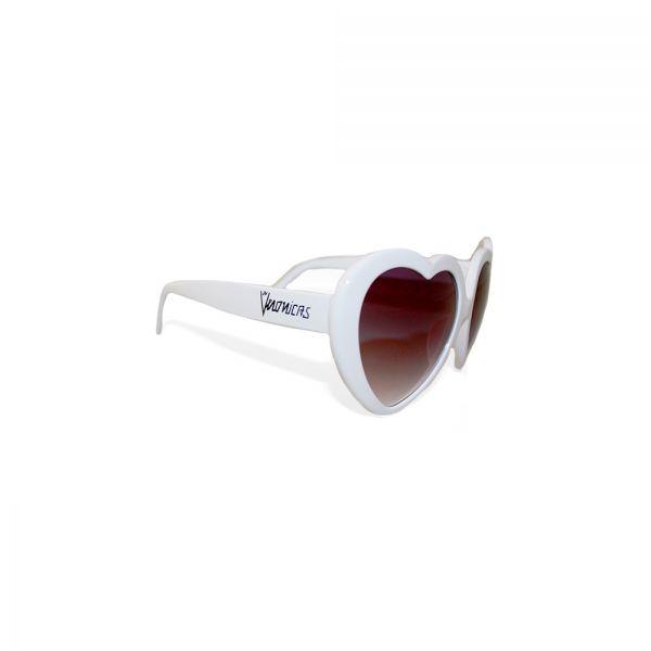 Heart White Sunglasses