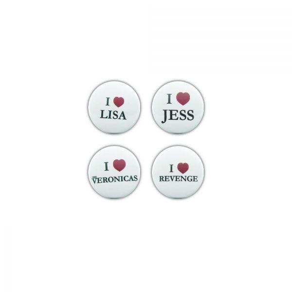 I Heart The Veronicas Badges Set Of 4