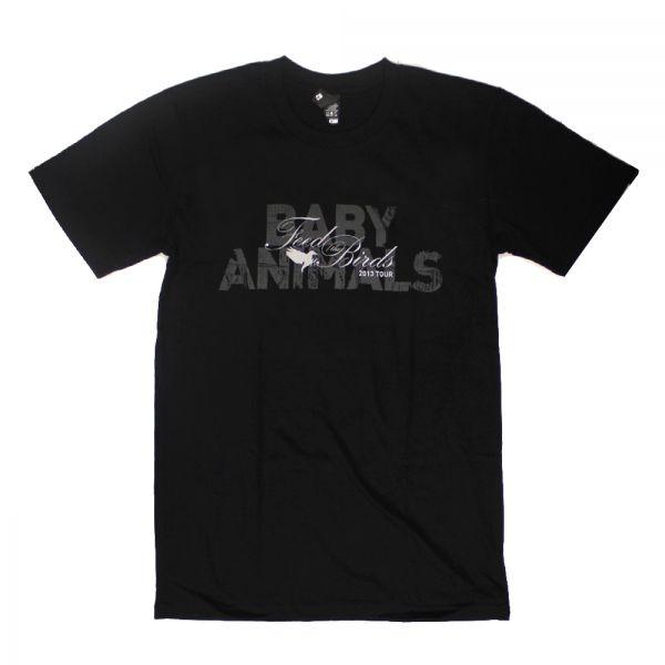 Feed The Birds Black Tshirt by Baby Animals
