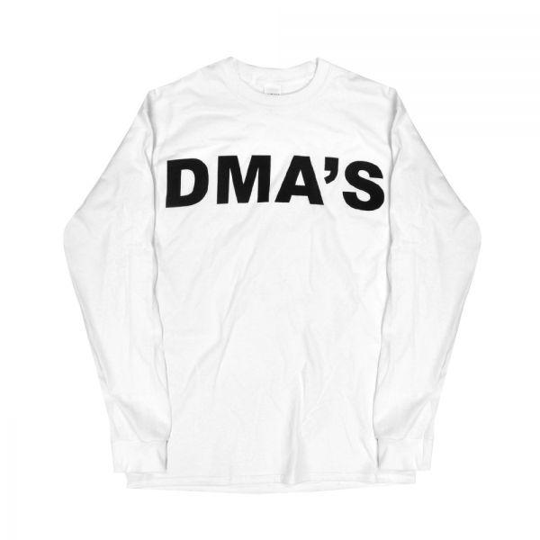 White Long Sleeve Shirt Album Font